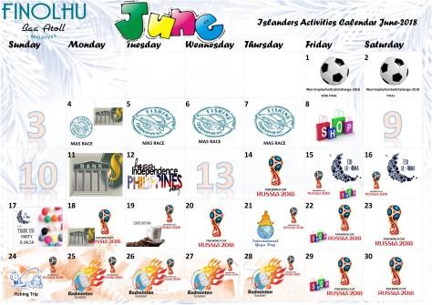 Finolhu Calendar June18