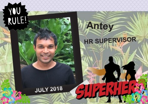 SUPERHERO OF THE MONTH - JULY 2018
