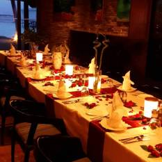 Farewell dinner set up2