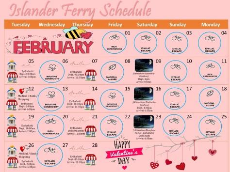 february 2019 ferry schedule