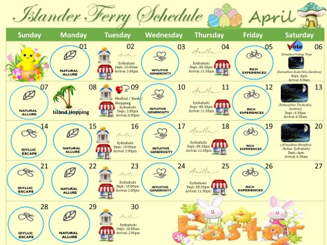 April Ferry Schedule