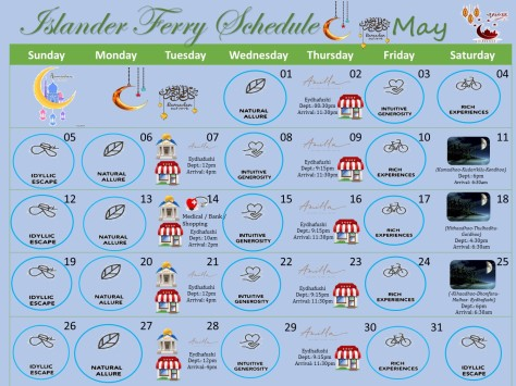 May Ferry Schedule